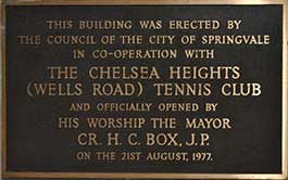 Club Opening Plaque